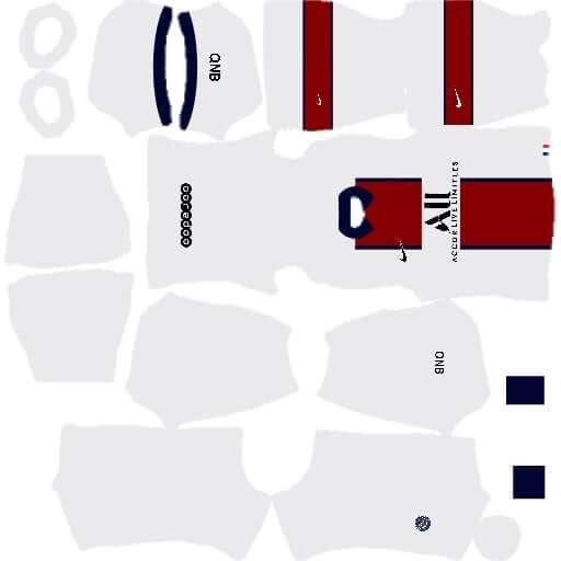 PSG 20/21 Season Away Kits for DLS 20
