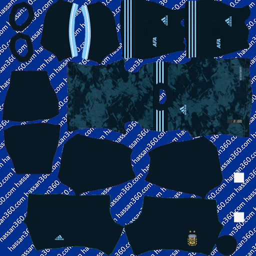 Argentina Away kits for DLS 21